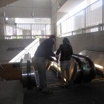 A CLB instructor with a client at a Metro escalator