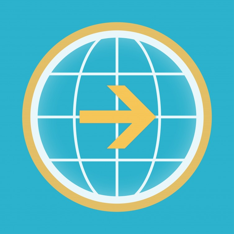 The icon for the ClickAndGo Wayfinding app
