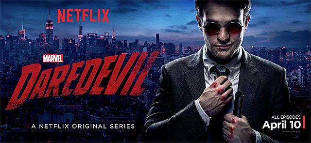 Poster promoting the new Netflix original series, Daredevil