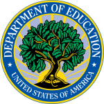 The logo for the U.S. Department of Education