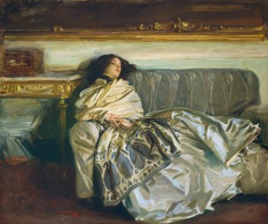 "An image of John Singer Sargent's 1911 painting entitled ""Nonchaloir"""