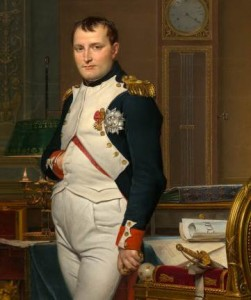 An image of the 1812 painting by Jacques-Louis David, The Emperor Napoleon in His Study in the Tuileries